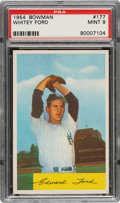 Baseball Cards:Singles (1950-1959), 1954 Bowman Whitey Ford #177 PSA Mint 9 - Only Two Higher....