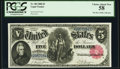Large Size:Legal Tender Notes, Fr. 80 $5 1880 Legal Tender PCGS Choice About New 58.. ...