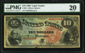 Large Size:Legal Tender Notes, Fr. 96 $10 1869 Legal Tender PMG Very Fine 20.. ...