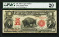 Large Size:Legal Tender Notes, Fr. 120 $10 1901 Legal Tender PMG Very Fine 20.. ...