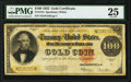 Large Size:Gold Certificates, Fr. 1215 $100 1922 Gold Certificate PMG Very Fine 25.. ...