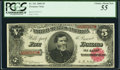 Large Size:Treasury Notes, Fr. 361 $5 1890 Treasury Note PCGS Choice About New 55.. ...