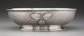 Silver & Vertu, A Whiting Mfg. Co. Silver and Mixed Metal Bowl, New York, circa 1880. Marks: (W-griffin), STERLING, 649A. 8-7/8 x 2-1/2 ...