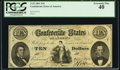 Confederate Notes:1861 Issues, T25 $10 1861 Cr. 169 PCGS Extremely Fine 40.. ...