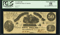 Confederate Notes:1861 Issues, T14 $50 1861 Cr. 64 PCGS Apparent Choice About New 58.. ...