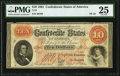 Confederate Notes:1861 Issues, T24 $10 1861 PF-10 Cr. 167 PMG Very Fine 25.. ...