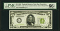Small Size:Federal Reserve Notes, Fr. 1955-L $5 1934 Light Green Seal Federal Reserve Note. PMG Gem Uncirculated 66 EPQ.. ...