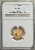 Indian Quarter Eagles: , 1911 $2 1/2 MS62 NGC. NGC Census: (4282/3206). PCG...