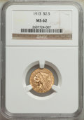Indian Quarter Eagles: , 1913 $2 1/2 MS62 NGC. NGC Census: (4277/2771). PCG...