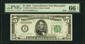 Small Size:Federal Reserve Notes, Fr. 1959-I $5 1934C Wide Federal Reserve Note. PMG Gem Uncirculated 66 EPQ.. ...