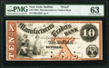 Buffalo, NY- Manufacturers and Traders Bank $10 18__ as G10a Proof PMG Choice Uncirculated 63