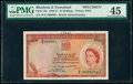 Rhodesia and Nyasaland Bank of Rhodesia and Nyasaland 10 Shillings 30.3.1957 Pick 20s Specimen PMG Choice Extremely Fine...