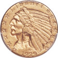 Indian Half Eagles, 1929 $5 -- Cleaned -- PCGS Genuine. AU Details....