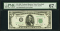 Small Size:Federal Reserve Notes, Fr. 1961-D $5 1950 Narrow Federal Reserve Note. PMG Superb Gem Unc 67 EPQ.. ...