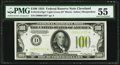 Fr. 2152-D* $100 1934 Light Green Seal Federal Reserve Note. PMG About Uncirculated 55