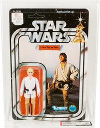 Star Wars - Luke Skywalker 12 Back-C w/Blond Hair Action Figure (Kenner, 1978) AFA 85 NM+