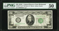 Fr. 2057-E* $20 1934C Old Back Federal Reserve Note. PMG About Uncirculated 50