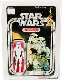 Star Wars - Stormtrooper 12 Back-A SKU on Figure Stand Action Figure (Kenner, 1978) AFA 85 NM+
