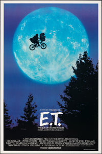 "E.T. The Extra-Terrestrial (Universal, 1982). Rolled, Very Fine+. One Sheet (26.75"" X 40.5"") Bicycle Style. Sc..."