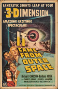 """Movie Posters:Science Fiction, It Came from Outer Space (Universal International, 1953). Folded, Fine. One Sheet (27"""" X 41"""") 3-D Style. Joseph Smith Artwor..."""