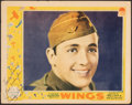 "Movie Posters:Academy Award Winners, Wings (Paramount, 1927). Fine+. Autographed Lobby Card (11"" X 14""). Academy Award Winners.. ..."