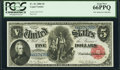 Large Size:Legal Tender Notes, Fr. 81 $5 1880 Legal Tender PCGS Gem New 66PPQ.. ...