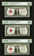 Small Size:Legal Tender Notes, Fr. 1500 $1 1928 Legal Tender Notes. Consecutive Trio.. ... (Total: 3 notes)