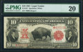 Large Size:Legal Tender Notes, Fr. 122* $10 1901 Legal Tender PMG Very Fine 20.. ...