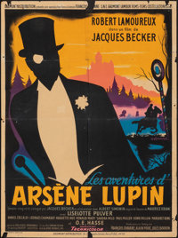 "The Adventures of Arsène Lupin (Gaumont, 1957). Folded, Fine. French Moyenne (23.25"" X 31.5""). Guy Gera..."