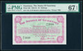 Guernsey States of Guernsey 10 Shillings 1.1.1961 Pick 42b PMG Superb Gem Unc 67 EPQ