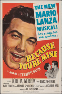 """Because You're Mine & Other Lot (MGM, 1952). Folded, Very Fine-. One Sheets (2) (27"""" X 41""""). Musical..."""
