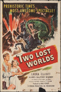 "Movie Posters:Science Fiction, Two Lost Worlds (Pathé, 1951). Folded, Fine-. One Sheet (27"" X 41""). Science Fiction.. ..."