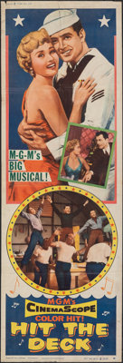 """Hit the Deck (MGM, 1955). Folded, Fine. Door Panel (20"""" X 60"""") Style #2. Musical"""