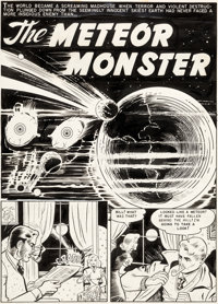 Harry Harrison and Wally Wood Weird Science #13 Splash Page Original Art (EC Comics, 1950)