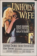 "Movie Posters:Crime, The Unholy Wife (RKO, 1957). Folded, Fine/Very Fine. One Sheet (27"" X 41""). Crime.. ..."