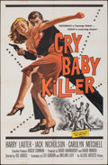 "Movie Posters:Crime, Cry Baby Killer (Allied Artists, 1958). Folded, Fine/Very Fine. One Sheet (27"" X 41""). Crime.. ..."