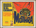 "Movie Posters:Science Fiction, Mothra (Columbia, 1962). Folded, Fine+. Half Sheet (22"" X 28""). Science Fiction.. ..."