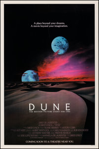 """Dune (Universal, 1984). Rolled, Very Fine. One Sheet (27"""" X 41"""") Advance, 2 Moons Style. Science Fiction"""