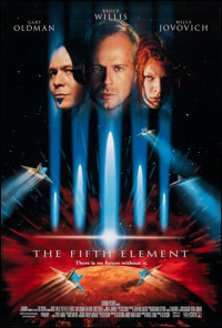 """The Fifth Element (Columbia, 1997). Rolled, Very Fine/Near Mint. One Sheet (26.75"""" X 39.75"""") DS. Science Ficti..."""