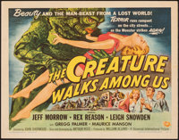"The Creature Walks Among Us (Universal International, 1956). Rolled, Fine/Very Fine. Half Sheet (22"" X 28"") St..."