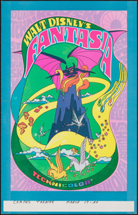 "Fantasia (Buena Vista, R-1970). Fine/Very Fine. Window Card (14"" X 22""). Animation"