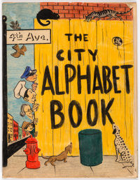 Children's Book Artist The City Alphabet Book by Harvey Harris Pre-Publication Mock-Up Book and Illustration A... (Total...