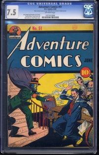 Adventure Comics #51 (DC, 1940) CGC VF- 7.5 Off-white pages