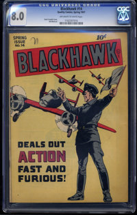Blackhawk #14 (Quality, 1947) CGC VF 8.0 Off-white to white pages
