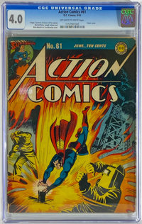Action Comics #61 (DC, 1943) CGC VG 4.0 Off-white to white pages
