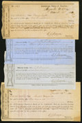 Confederate Notes:Group Lots, Morganton, NC Interim Depository Receipts Various Amounts 1864 Tremmel NC-82 (2); 87; 88 Fine or Better.. ... (Total: 4 items)