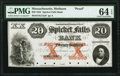 Obsoletes By State:Massachusetts, Methuen, MA- Spicket Falls Bank $20 Oct. 1, 1853 G12a Proof PMG Choice Uncirculated 64 EPQ.. ...