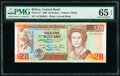 Belize Central Bank 20 Dollars 1.5.1990 Pick 55 PMG Gem Uncirculated 65 EPQ