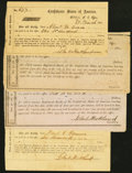 Confederate Notes:Group Lots, Hillsboro, NC Interim Depository Receipts Various Amounts 1864 Tremmel NC-69; NC-71 (Plate IDR); NC-72 (2) Fine.. ... (Total: 4 items)
