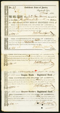 Confederate Notes:Group Lots, Fayetteville, (NC) Interim Depository Receipts Various Amounts 1863-64 Tremmel NC-33 (Plate IDR); 41; 42; 43 (Plate IDR); 49 F... (Total: 5 items)